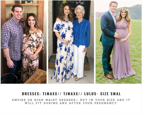 cf14bd3beedfd Look for dresses with some length. Your growing bump will quickly turn a  short dress into top! Look for midi or knee-length non-maternity dresses  that will ...