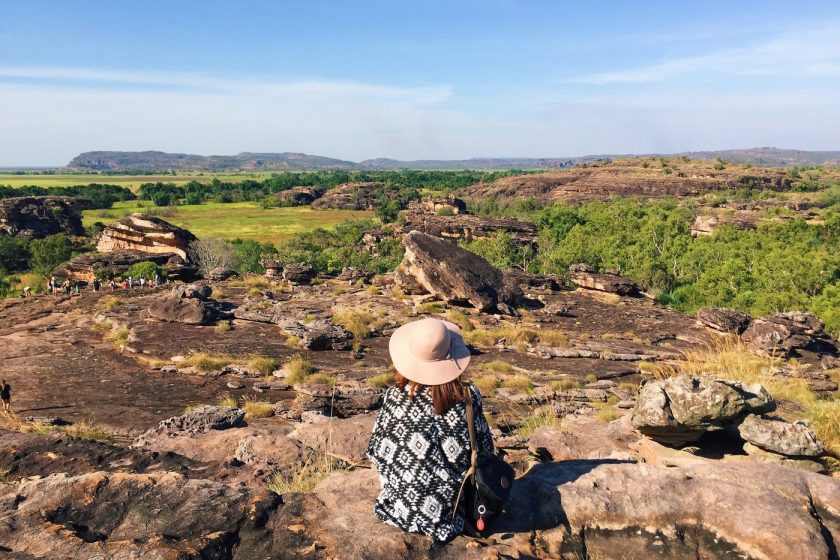 At Ubirr Art Site in Kakadu National Park, May 2015
