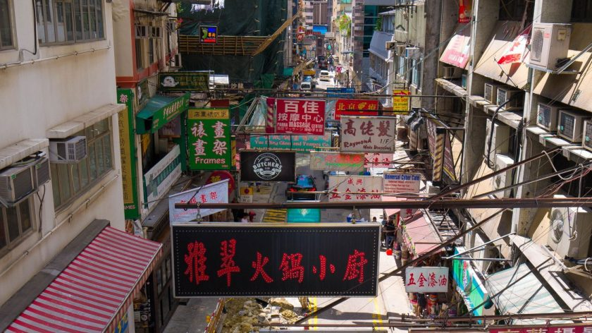 Wellington Street, my favorite street in Central hong Kong