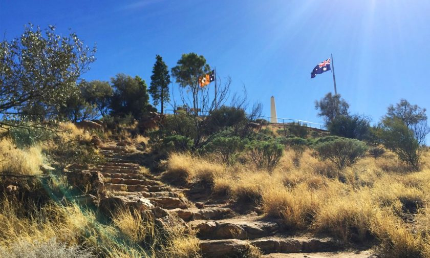 The stairs up to Anzac Hill Lookout