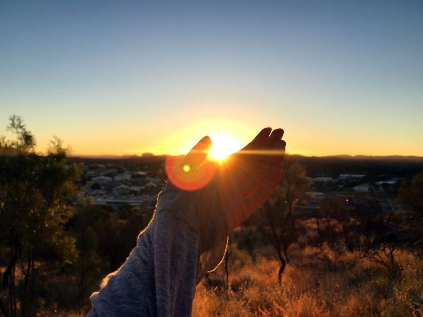 Catching sunset in Alice Springs