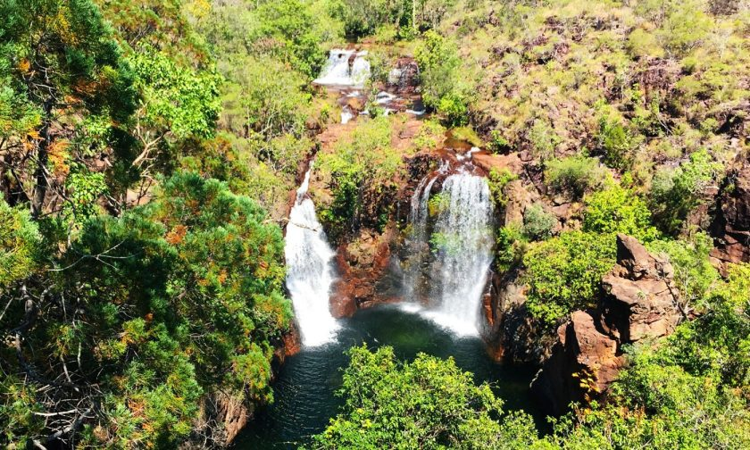 Florence Falls from a lookout point