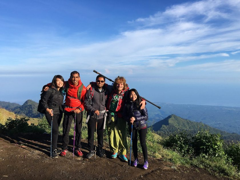 Team Rinjani - One last picture before we descended