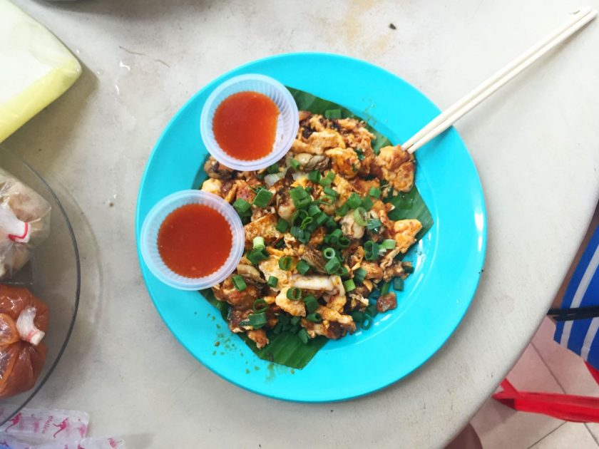 Oyster Omelette at Lorong Selamat