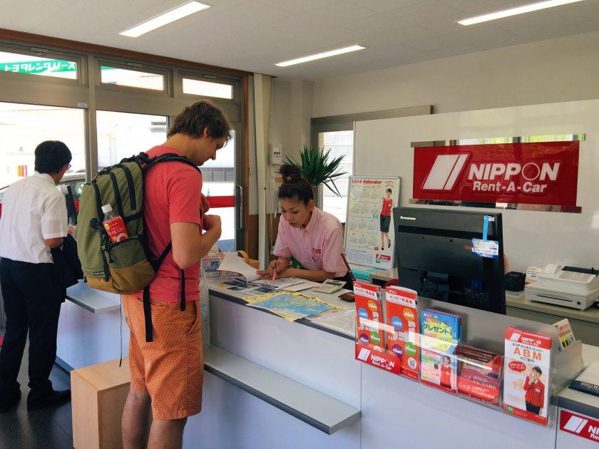 Renting a car at Nippon Rent a Car