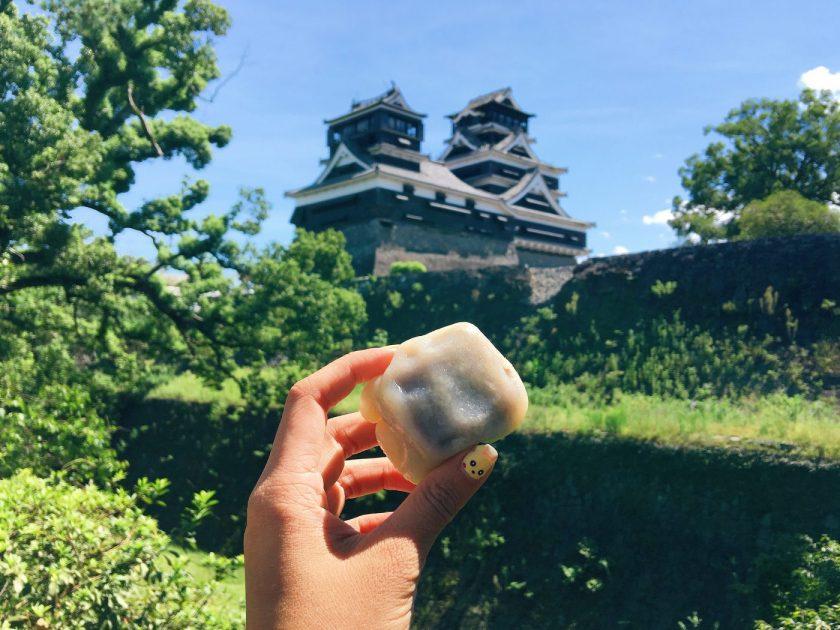 Ikinari Dango at the Kumamoto Castle