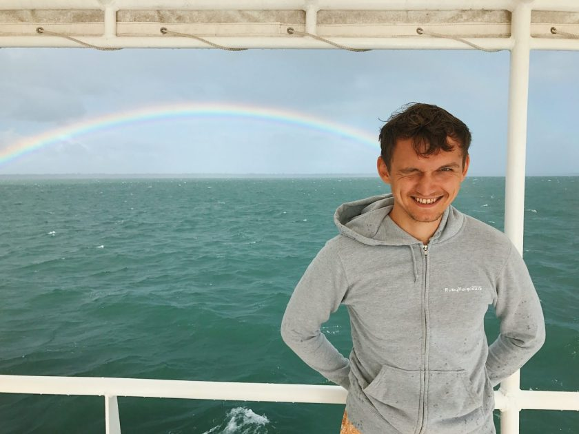 We spotted a rainbow on the ferry