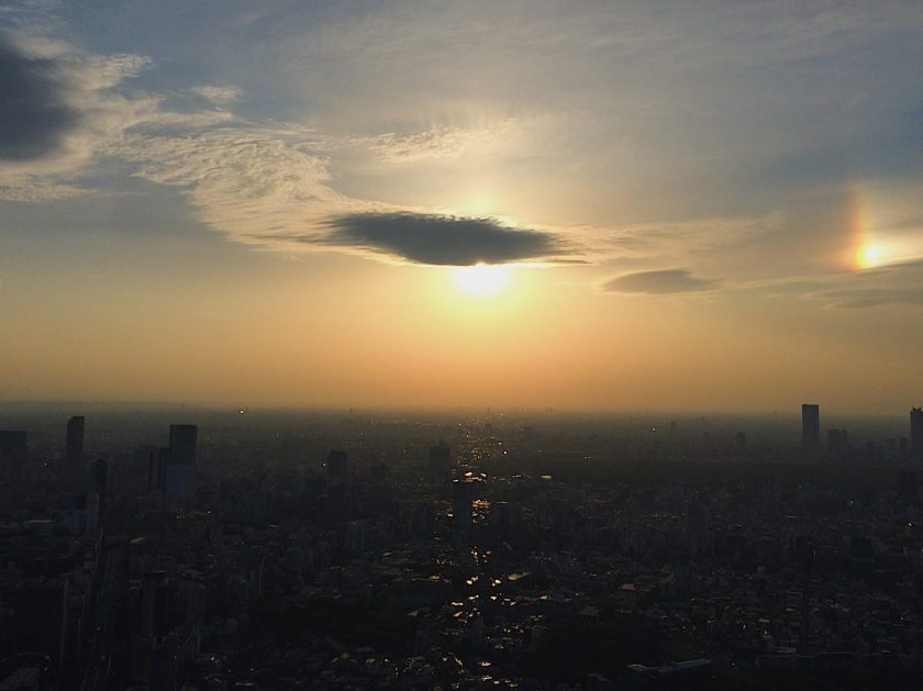 Sunset from the Tokyo Sky Deck roof top