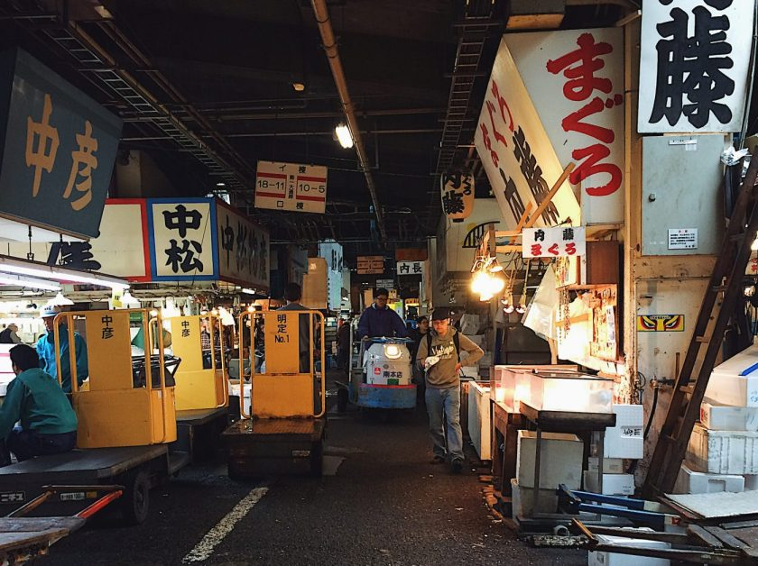 Tsukiji Market after the crazy morning bustle