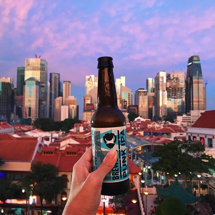 Singapore Sunset Rooftop Beer