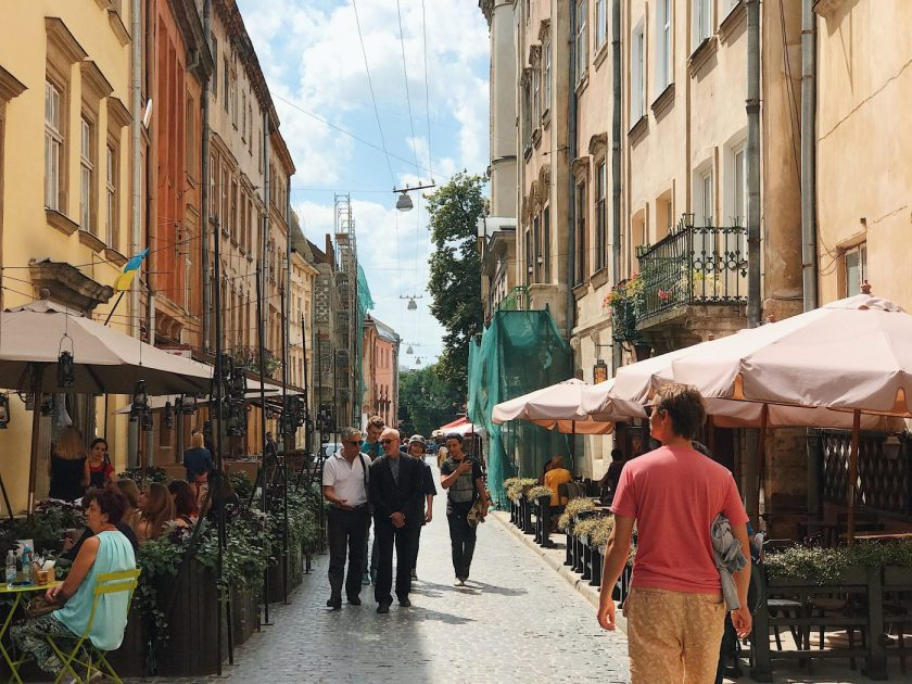 A typical alley in Lviv