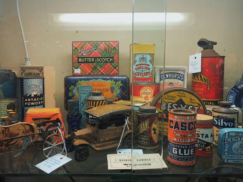 Vintage goods at Kookaburra Antiques Collectables