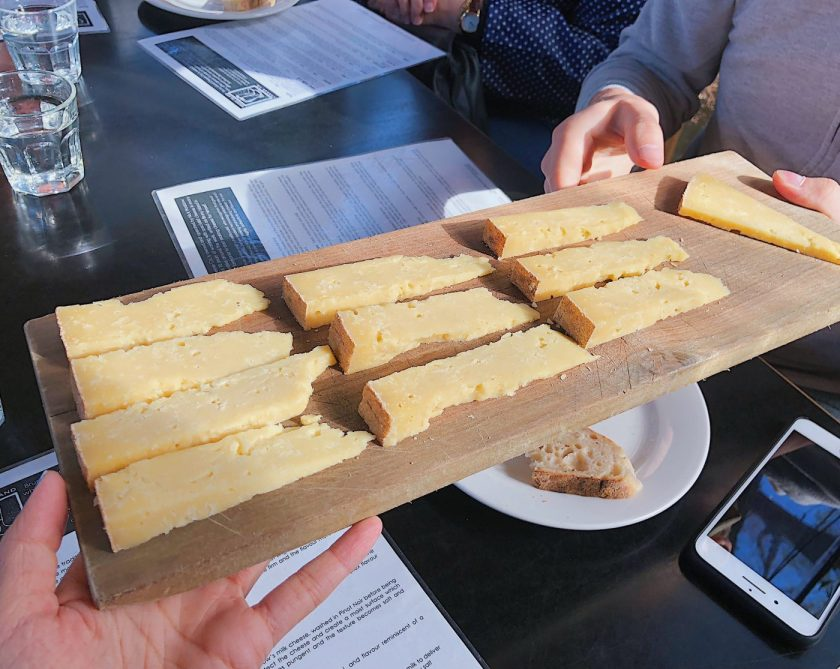 Cheese tasting at Bruny Island