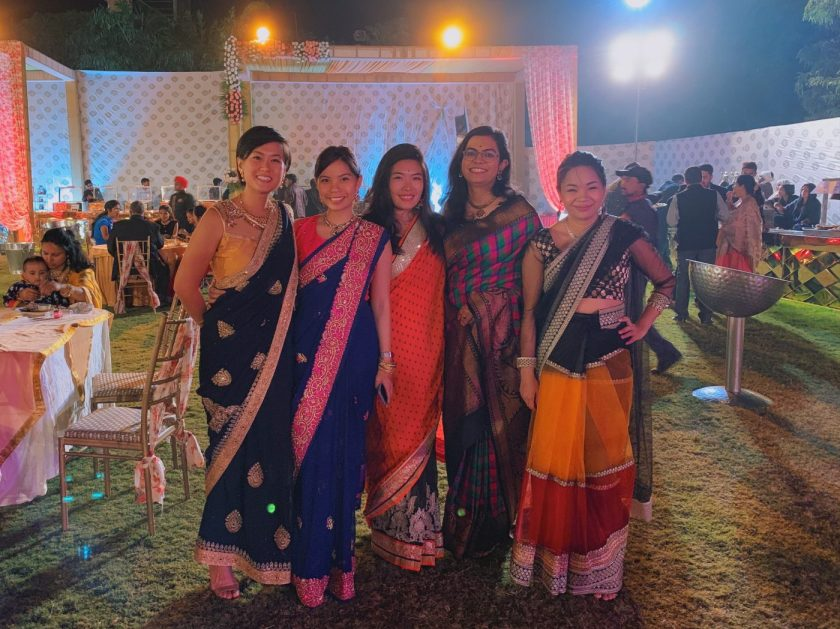 The girls and our sarees