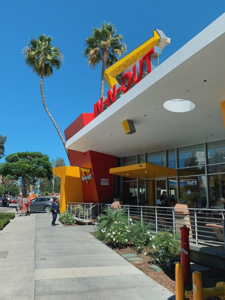 In n Out in Westwood, Los Angeles