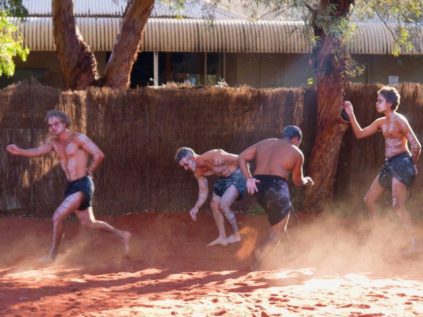 Aboriginal Dance Performance at Yulara Visitor Center
