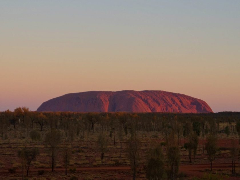 Uluru right before Sunset