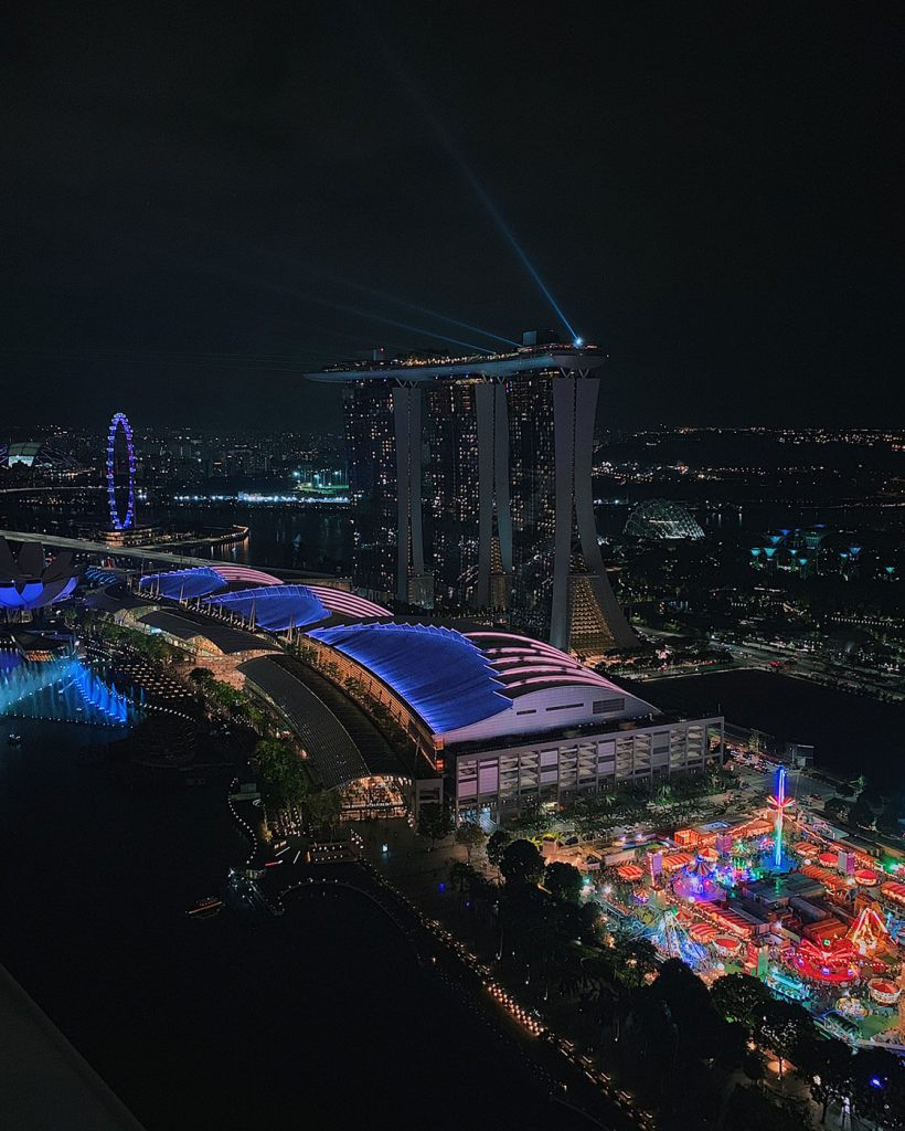 View of Singapore from Level33