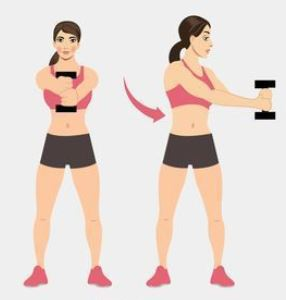 Standing core stabilizer for flat tummy