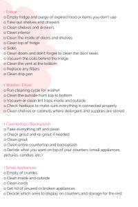 Kitchen Deep Spring Cleaning Master List