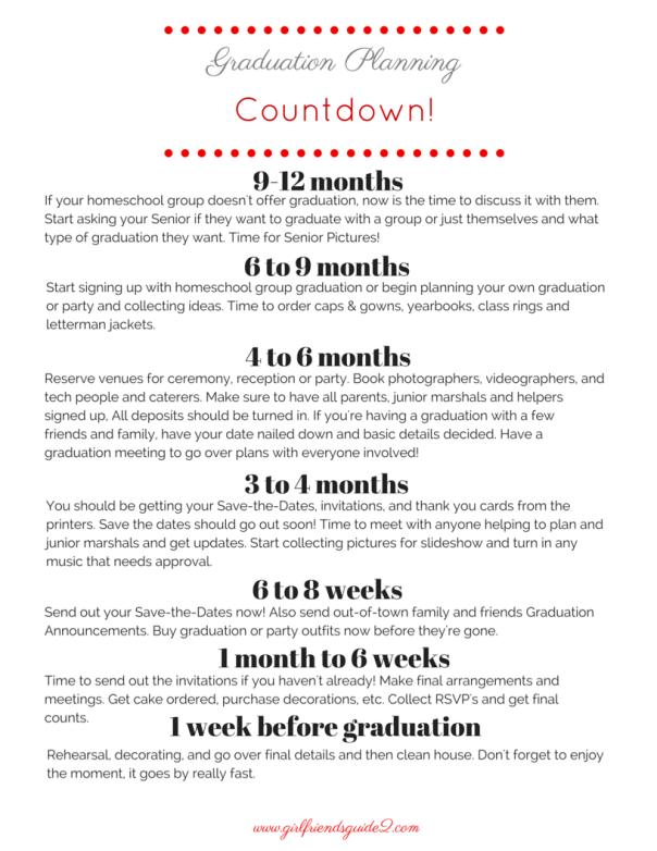 Graduation Planning Timeline