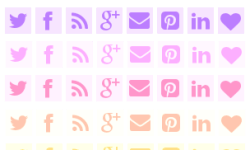 Pretty Free Social Media Icons