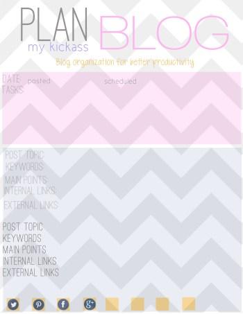 Free Printable Blog Planner