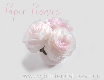 DIY Paper Peonies with Coffee Filters