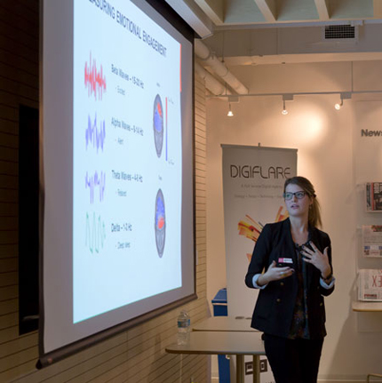 Katerina Juskey presents at Girl Geeks