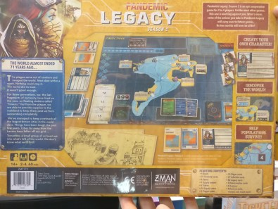 Pandemic Legacy season 2 back of box UK Games Expo 2017