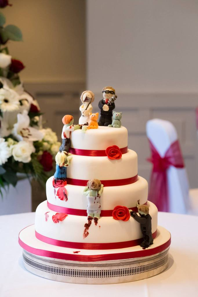 Geek Wedding Zombie Cake
