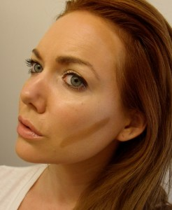 Option 2:  Contouring with liquid foundation.