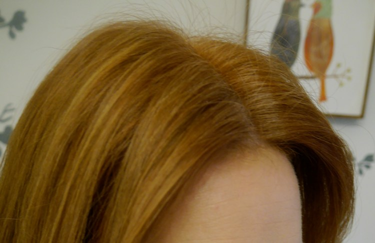 """10 days after coloring. Hair has faded to my desired shade, but with some """"sheerness"""" at roots."""