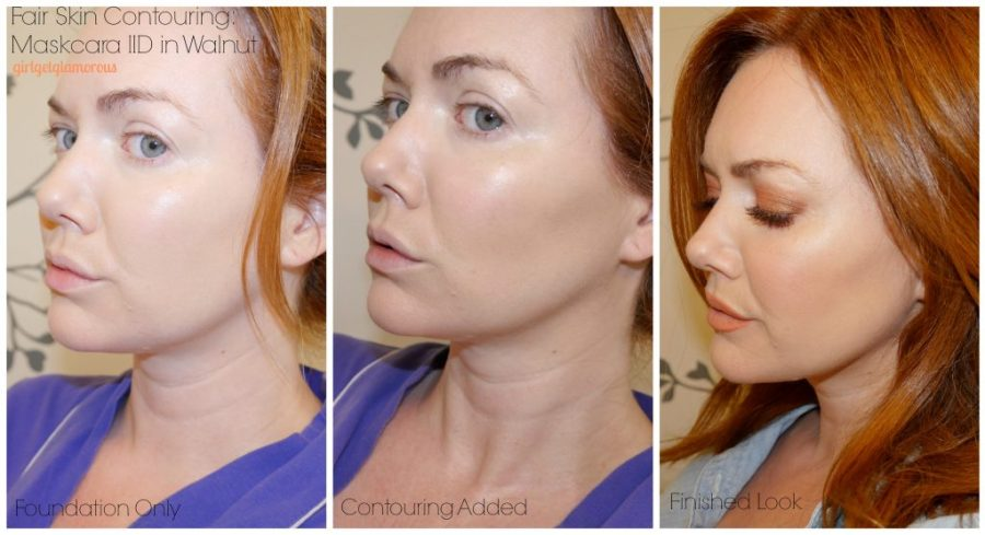 maskcara contour and highlight for fair skin how to red hair