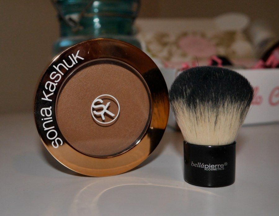 I LOVE this kabuki brush to apply this cream bronzer (that I purchased separately!)