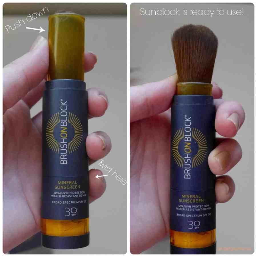 sunblock sunscreen brush on block review demo beauty blog blogger