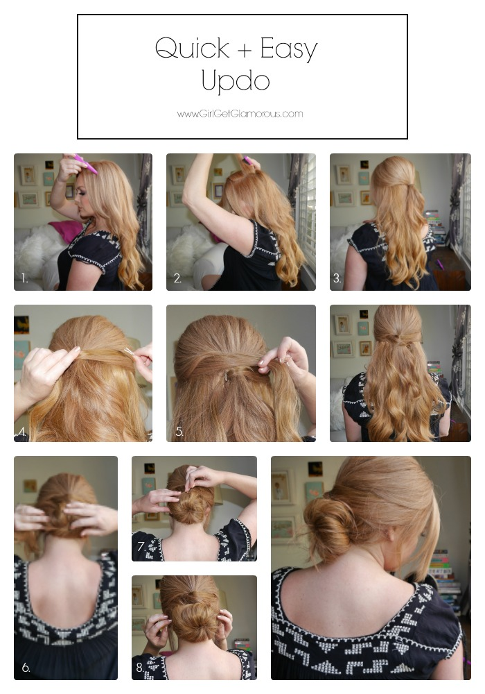 quick and easy hairstyles wedding updo running late