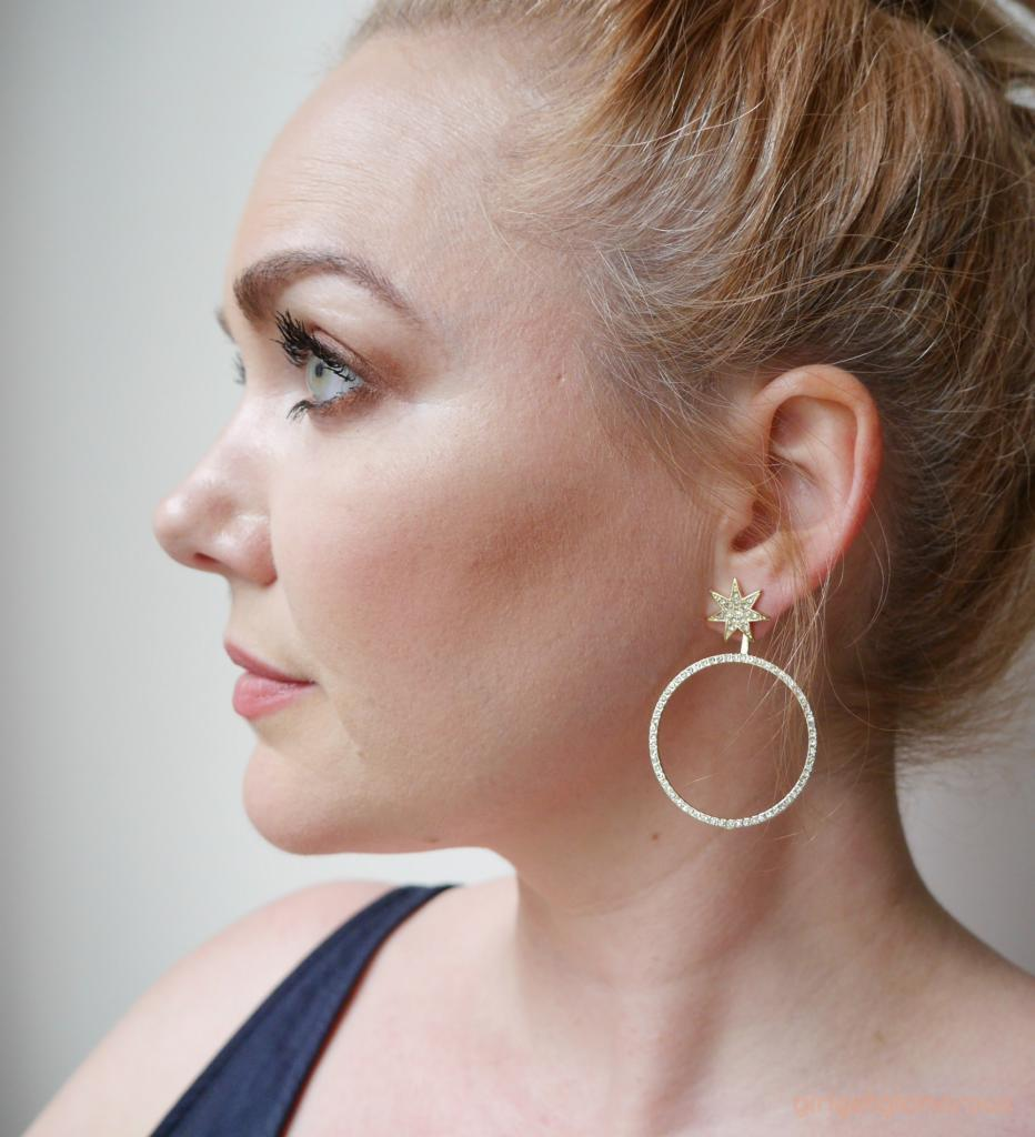 picture of bauble bar star celestial sparkle hoop earrings from nordstrom anniversary sale 2018 ootd beauty blog blogger los angeles