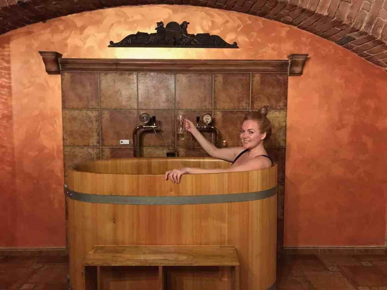 beer bath spa in prague
