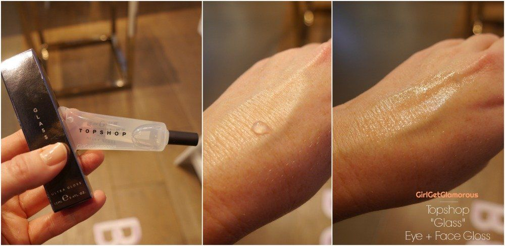 topshop beauty glass eye face gloss highlighter skin top best swatch review demo blog