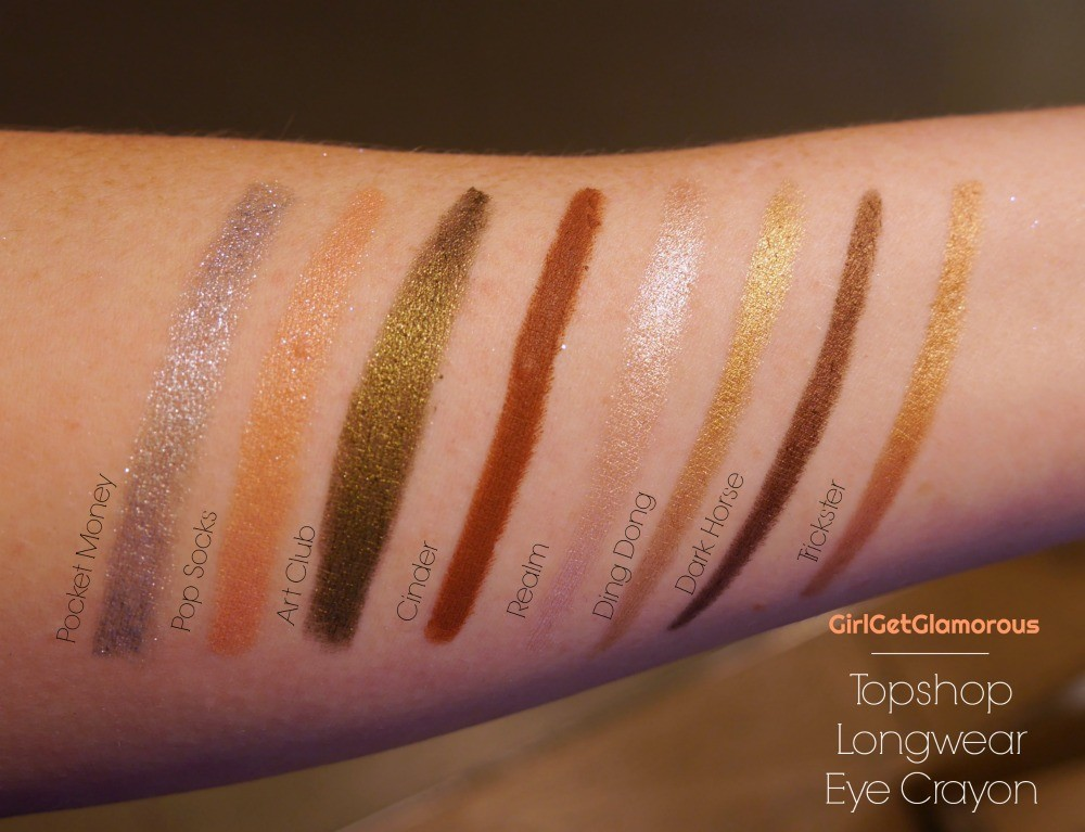 topshop longwear eye crayon shadow stick best top swatches beauty blog
