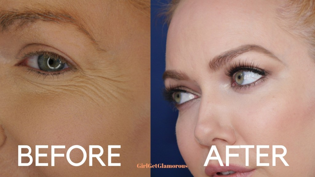 before and after old and new concealer technique