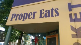 My first lunch took place at Proper Eats in the St. Johns neighborhood. Market and eat-in cafe in one!