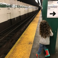 Waiting for the subway