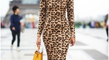 What not to wear as a tourist - Leopard dress