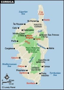 What to see and do in Corsica - Map
