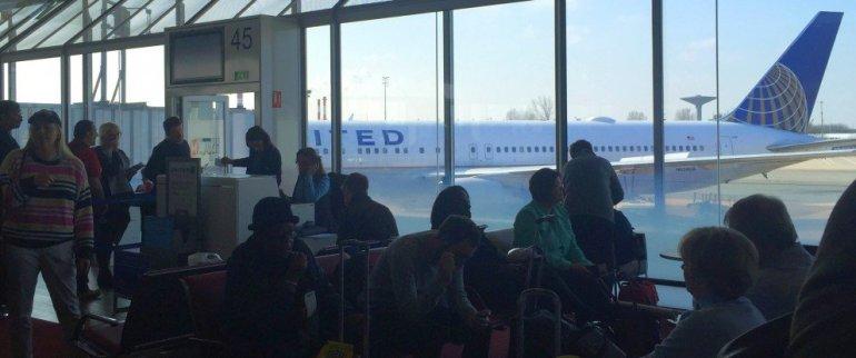 Delayed flight paris