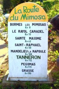 Route du Mimosa Itinerary -mile marker