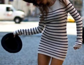 La Marinière - French Sailor's Shirt - as a dress