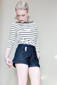 La Marinière - French Sailor's Shirt - with shorts